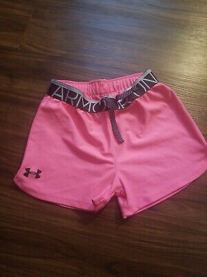 Under Armour Shorts Girls Youth Medium Pink