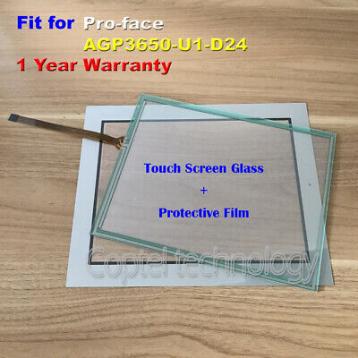New Touch Screen Glass + Film fit for Pro-face AGP3650-U1-D24  AGP3650U1D24