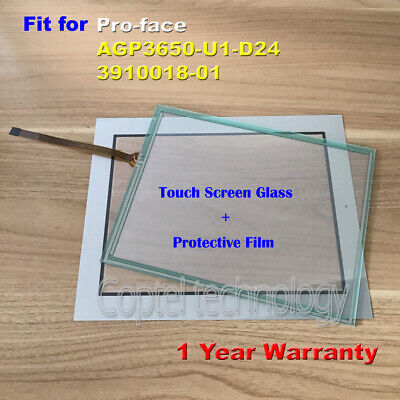 Touch Screen Glass +Film for Pro-face AGP3650-U1-D24  3910018-01 1 Year Warranty