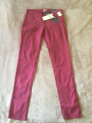 Tommy Hilfiger Mens Boys Trousers, Size W25 L32, Red, New