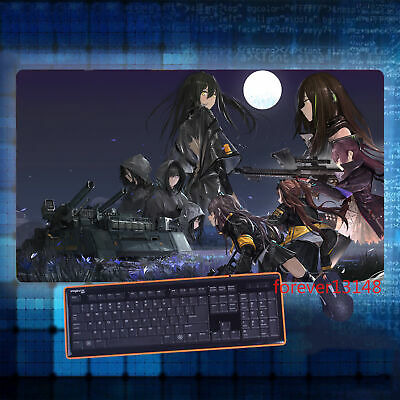 Anime Girls Frontline Ump45 Ump9 Keyboard GAME Mouse Pad Table Mat Gift 70*40CM
