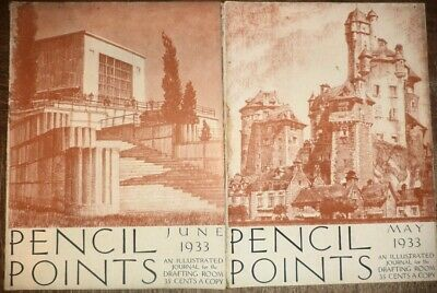 4 1933 Pencil Points Drafting Architecture Architectural Drawings Design History