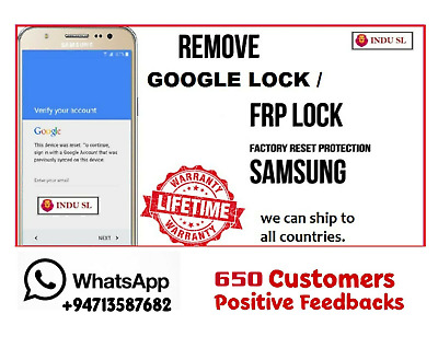 FRP Lock (Google Lock) Remove Service For All Samsung Models (Ask 1st)