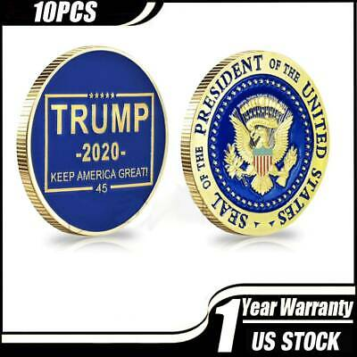 10* Donald Trump 2020 Keep America Great! Presidential Seal Gold Challenge Coin