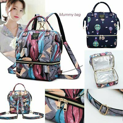 New Luxury Large Mummy Maternity Baby Nappy Diaper Changing Bag Travel Backpack