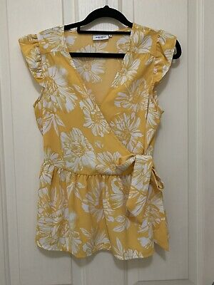 New Yellow Floral Top Sz 8 Jeans West