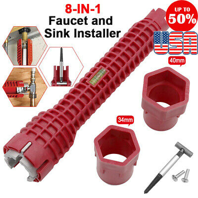 Multifunction Faucet and Sink Installer Wrench Plumbing Tools Water Pipe Spanner