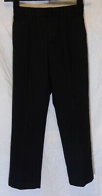 Boys Next Black Adjustable Waist Pleat Front Smart School Trousers Age 10 Years