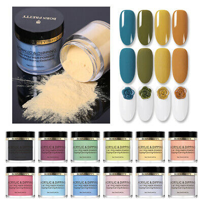 BORN PRETTY 3 In 1  Acrylic Dipping Powder Nail Art Carving Extension NO UV Lamp