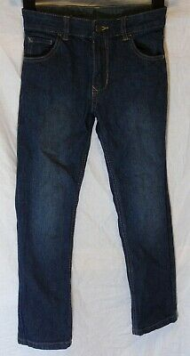 Boys George Dark Blue Denim Adjustable Waist Classic Fit Jeans Age 7-8 Years
