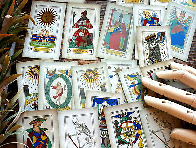 50 Vintage Antique Tarot Cards Zodiac Fortune Telling Reading Witch Gypsy Card
