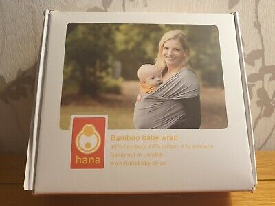 Hana Bamboo Baby Wrap Grey Breathable Baby Sling Carrier