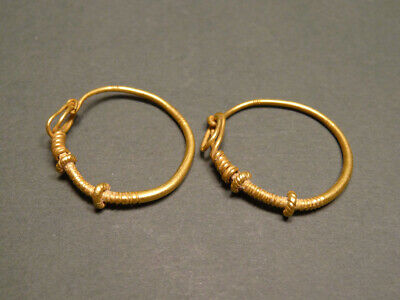 Provenance: Christie's Pair Of Ancient Gold Earrings Roman 100-300 Ad