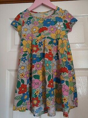 Next Girls Pretty Bright Floral Tunic Dress Age 4-5 Years