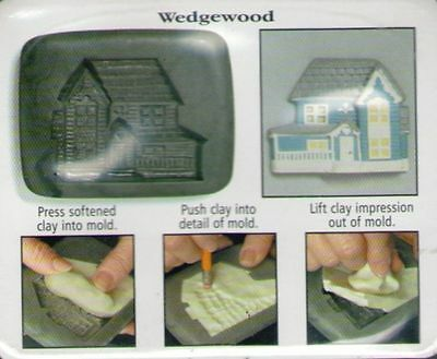 Amaco PUSH MOLD Mould House Series 1 Country #1 WEDGEWOOD HOUSE Sheri Frey 1999