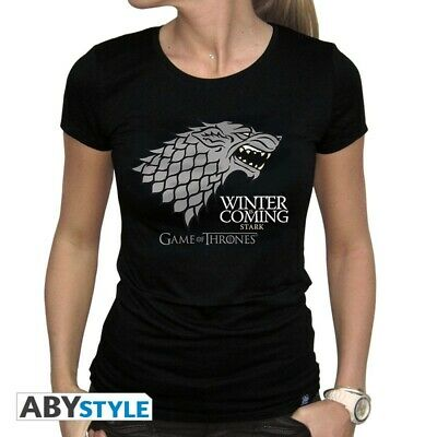 WINTER IS COMING DAMEN LANGARM T-SHIRT Game Of Haus House Stark Thrones Wolf