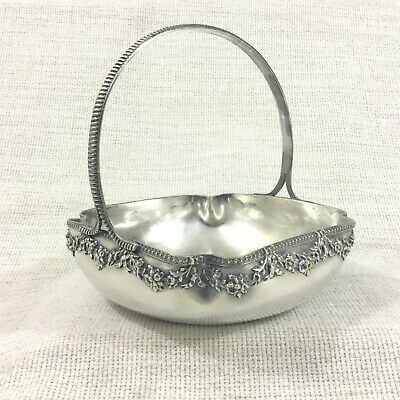 Antique French Silver Plated Bread Basket Bowl Louis XVI Napoleon III Empire