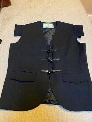Mens Jacobean Jacobite Waistcoat Pure New Wool Toggle Fastening Small