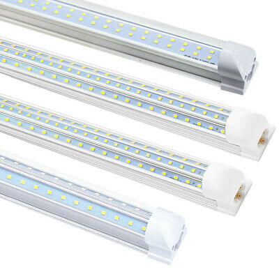 4~100 Pack T8 4FT-8FT Integrated LED Tube Light Bulbs 72W/120W 6500K Shop lights