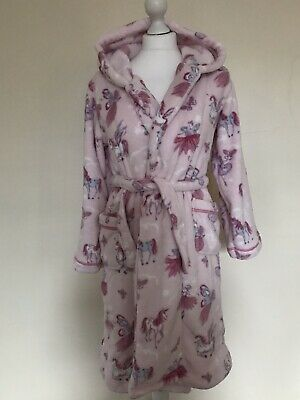Monsoon Dressing Gown For Girls Years 11/12 -146/152 In Pink Unicorns New