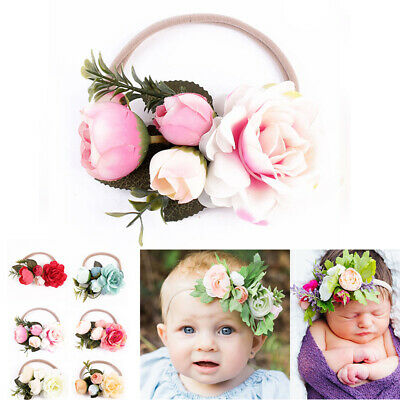 Hair Flower Cute Baby Infant Headband Girl's Kids Lot Newborn Headwear Toddler