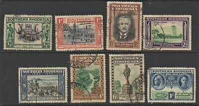 SOUTHERN RHODESIA 1940 BSA Golden Jubilee. Set of 8. Used. SG 53-60
