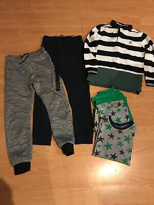 Boys Clothes Bundle Age 8-9 Years.. M&S Sweater-Primark Trackies-george Pj's