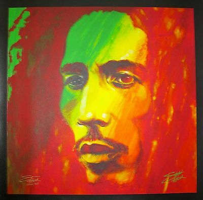 """STEPHEN FISHWICK """"THE SOLDIER"""" BOB MARLEY Hand Signed Large Giclee Art on Canvas"""