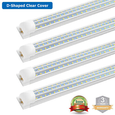 4~100 Pack T8 4FT 8FT Integrated LED Tube Light Bulbs 60W/120W 6500K Shop lights