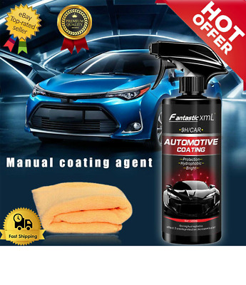 Shine Armor Ceramic Spray PaintedCar Polish SealantTop Coat Nano Coating+Towel
