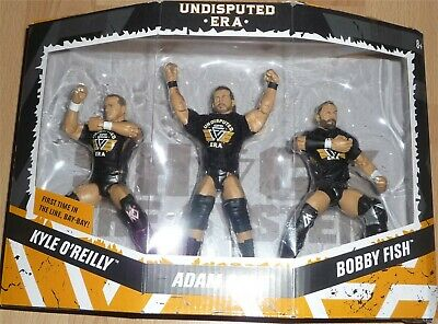 Undisputed Era - Adam Cole Bobby Fish Kyle O'Reilly WWE Mattel Elite NXT DMG BOX