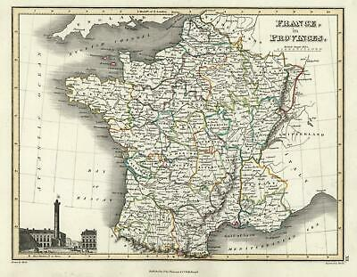 Ancien Regime France in provinces 1820 Thomson Hewitt Decorative Map