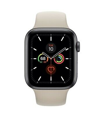 Apple Watch Ser 4-44mm (GPS+Cellular) Space Gray Alum Case w Stone Sport Band