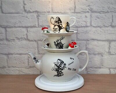 alice in wonderland mad hatters tea party Gift Teapot Cup Stack lamp