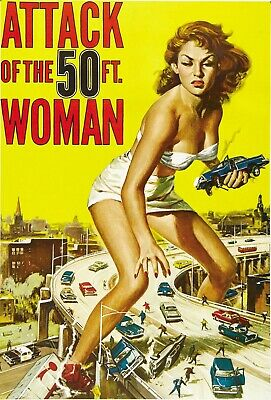 Posters USA PRM104 Woman Movie Poster Glossy Finish Attack of the 50 Ft