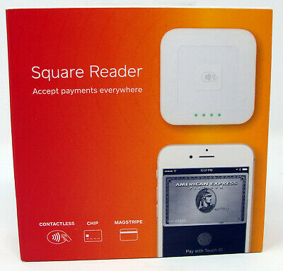 New NIB Square A-SKU-0113 Contactless Credit Card and Chip Reader White Sealed