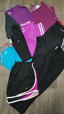 Womens Gym Bundle Size Uk 12-14 Adidas,Nike,Leggings,Top,Set,Run,Sport,Fitness