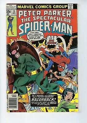 PETER PARKER, SPECTACULAR SPIDER-MAN # 13 (Cents, Dec 1977), GD/VG