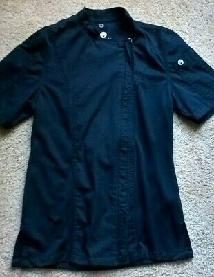 WOMEN'S CHEF WORKS Springfield Black Chef Coat Jacket, sz S *FREE SHIPPING*
