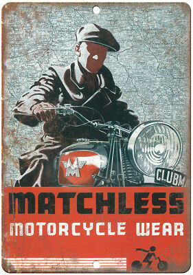 MATCHLESS CLUBMAN MOTOR BIKE METAL WALL SIGN  RETRO  STYLE12x16in 30x40cm garage