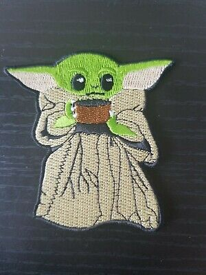 Baby Yoda Embroidered Iron On Patch based on Star Wars Mandalorian The Child