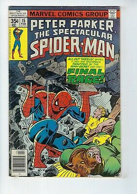 PETER PARKER, SPECTACULAR SPIDER-MAN # 15 (Cents, Feb 1978), GD/VG