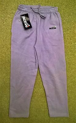 Girls Jogging Bottoms Pants Lavender Size 43-46 Age Approx 6 - New With Tags
