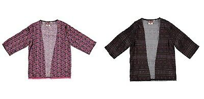 Girl's Lee Cooper All Over Print Kimono Jacket Junior Ages 7 to 13 New With Tags