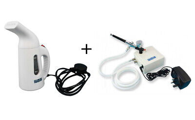 PME Cake Fondant Icing Steamer and Air Brush & Compressor Kit for Decorating