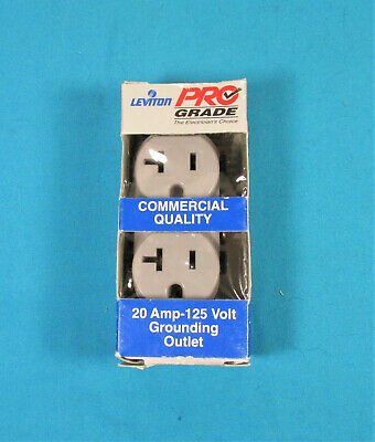 Electrical Outlets Grounded Leviton, 20A-125V 5800-GSP Gray