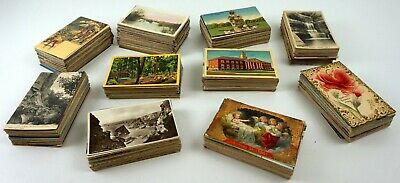 Vintage Postcards: Mixed Lot of 50 Scenic, Holiday, Comic Cards c1900-1969