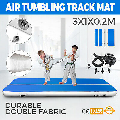 10FT Airtrack Inflatable Air Track Floor Home Gymnastics Tumbling Mat GYM + Pump