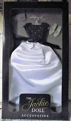 "NRFB Franklin Mint BLACK & WHITE GOWN Ensemble for 16"" Vinyl JACKIE Doll No COA"