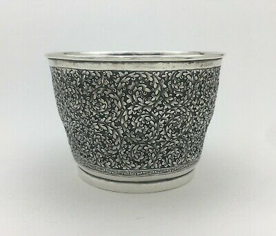 Finest Quality Antique French Indo-China Chinese Indian Sterling Silver Tea Bowl